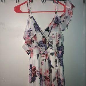 torrid Dresses - Torrid Floral Cold Shoulder Chiffon Dress